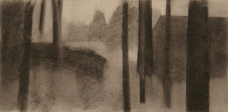 """charcoal on paper, 8""""x 16"""", 2012"""