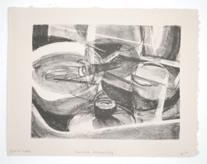 """""""household archeology,"""" lithograph, 2012"""