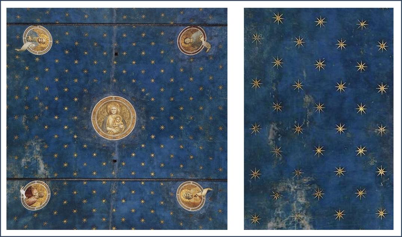 Giotto di Bondone, Scrovegni Chapel Ceiling details; Giotto [Public domain], via Wikimedia Commons