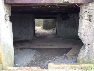 German bunker, Omaha Beach, Normandy, France